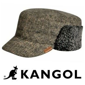 Kangol Shearling Trapper Hat in Grey